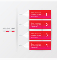 Timeline report template pink gradient color vector