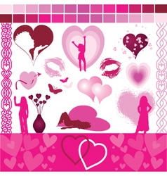 valentine design aids vector image vector image
