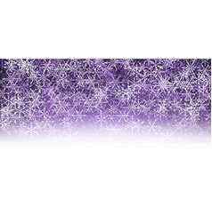 Violet winter background with snowflakes vector image