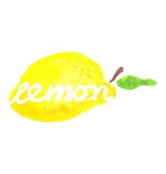 Watercolor lemon lettering vector