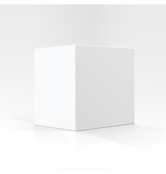 White square carton box isolated on background vector