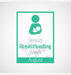 World breast feeding week icon vector