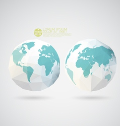 World map with polygon texture isolated background vector