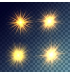 Yellow suns set vector