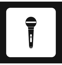 Microphone icon in simple style vector