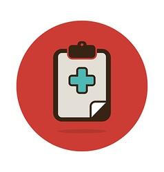 Clipboard flat icon medical vector