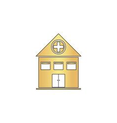 Hospital computer symbol vector image