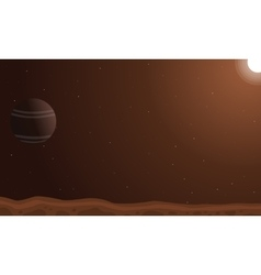 Desert planet background art vector image