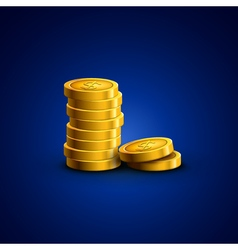 Coins isolated golden coins success economy vector