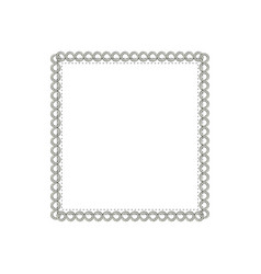 square elegant frame icon vector image