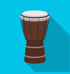 National brazilian drum icon in flate style vector