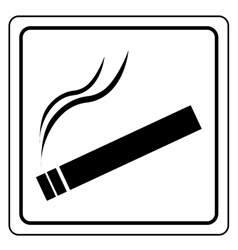 Black smoking area label vector image