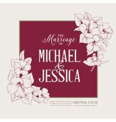 Marriage design vector