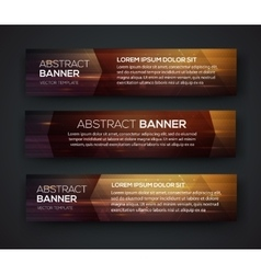 Abstract banner design vector