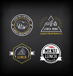 Lunch menu logo and badge design vector