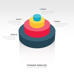 Cylinder infographic template vector