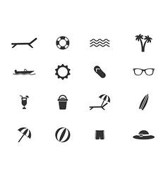Beach simply icons vector