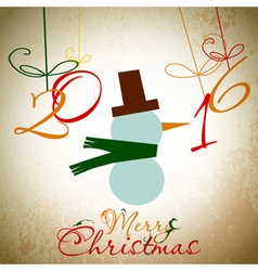 Christmas card with tree xmas card vector
