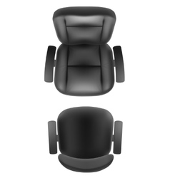 Office chair and boss armchair top view vector