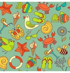 seamless patterns for the summer theme vector image