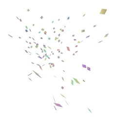 Abstract background with many falling confetti vector image
