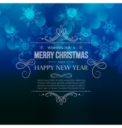 Abstract Christmas light background vector image vector image