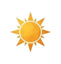 Abstract simple polygonal sun vector image