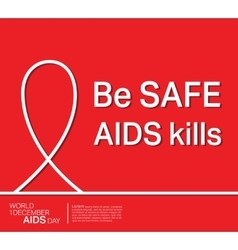 AIDS ribbon poster vector image