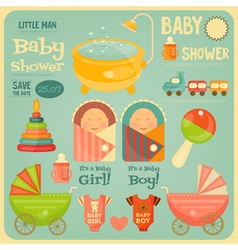Baby Shower Poster vector image vector image