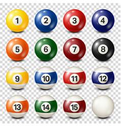 Billiardpool balls collection snooker vector