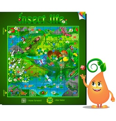 Board game insect life vector