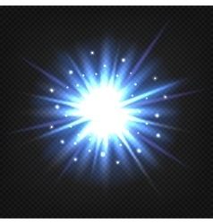 Bright blue explosion vector