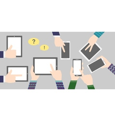 business background with phone and tablet vector image vector image
