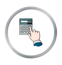 Calculation icon in cartoon style isolated on vector image vector image