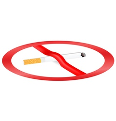 dangers of smoking vector image vector image