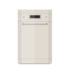 dishwasher flat icon vector image vector image