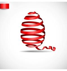 Easter Ribbon Egg vector image