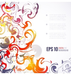 EPS 10 ink abstract background vector image