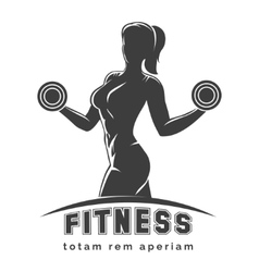 Fitness club emblem vector