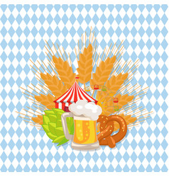 food set and beer on white vector image vector image