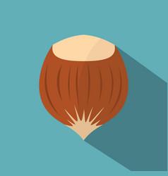 Hazelnut icon flat style vector
