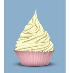 High tiered sweet yellow cream vector