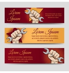 Labor day banner set vector image