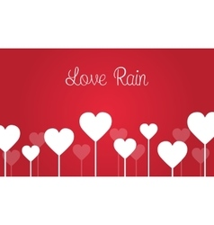 Love on red backgrounds for valentine days vector