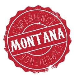 Montana stamp rubber grunge vector