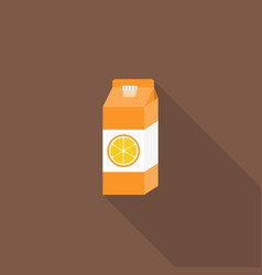 orange juice in carton container vector image vector image