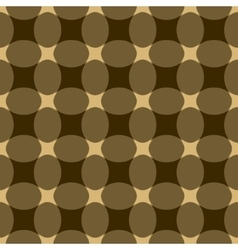 Oval and rhombus seamless pattern vector image