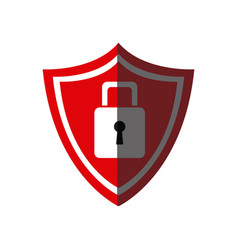 red shield protection security internet image vector image