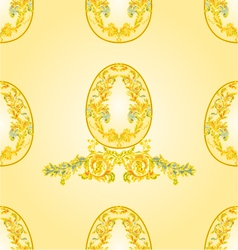 Seamless texture Easter eggs vector image vector image