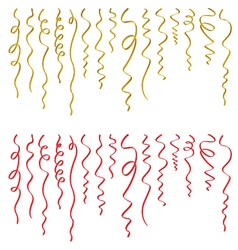 Set of ribbons on white background vector image vector image
